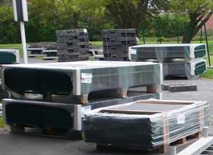упаковка и транспортировка панельных систем ограждений