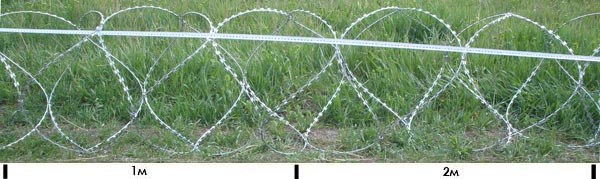 Єгоза українського виробництва 600мм, 5 скоб,  5 витків на 1метр погонний