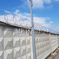 Монтаж егозы на бетонном заборе