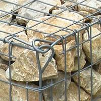 Габион для ландшафтного дизайна с камнями