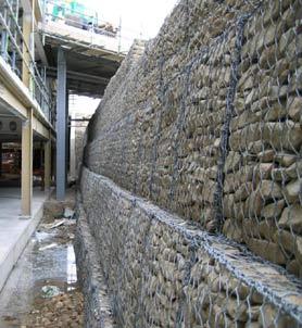 Габионы стена