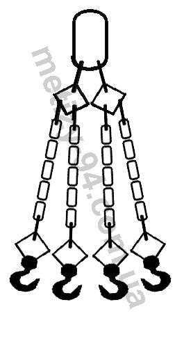 Четырехветвевой цепной строп