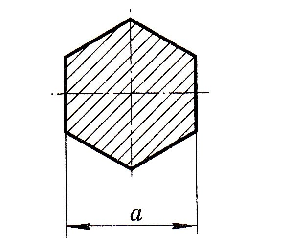 шестигранник диаметр