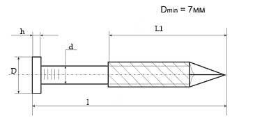 Схематичне зображення єршjного цвяха