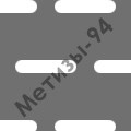 перфорированный лист с прямоугольными отверстиями со скругленными торцами и симметричным смещением