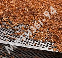 Перфорированный лист в зерноочистных машинах