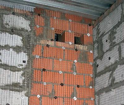 Армирование сеткой стены из разных материалов