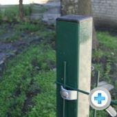 Стовп для паркану з полімерним покриттям