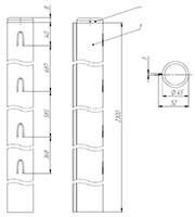 столб для забора круглый оцинкованный 2,3м