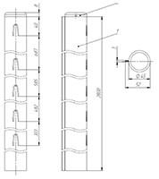 столб заборный круглый 2,8 м