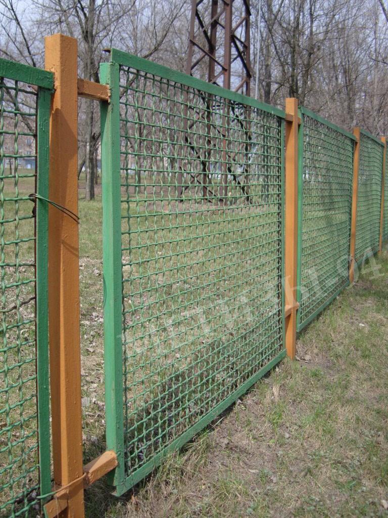 Забор своими руками из сетка рабица фото забора 945