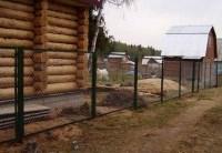Забор из сетки рабица в каркасе из уголков