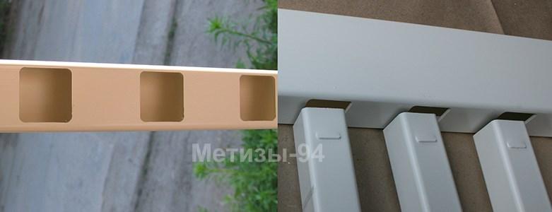 Верхняя перекладина для глухого забора с решетками