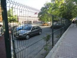 Забор секционный в Стамбуле (в Украине продается под ТМ Казачка)