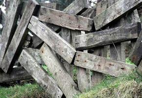 Забор из досок, фото необычного забора