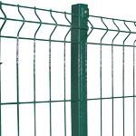 Забор секционный проволочный с ребром жесткости