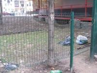 Калитка Betafence возле Банка ВТБ в Запорожье на пр. Металлургов