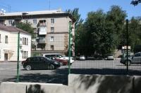 Забор Казачка на автостоянке в Запорожье возле Осфорд-Медикал по ул. Панфиловцев,7