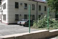 Забор Казачка на автостоянке в Запорожье возле Оксфорд-Медикал по ул. Панфиловцев,7
