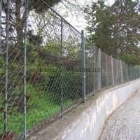 Забор из сетки Рабица с каркасом из труб