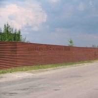 Забор из листа