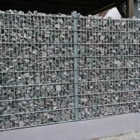 Забор с камнями