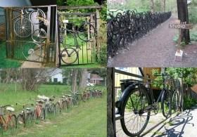 Заборы из велосипедов